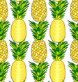 Seamless pattern of fresh pineapple vector image