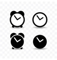 set clock icon simple flat style vector image