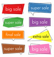 set of eight sale bannes vector image vector image