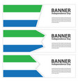 sierra leone flag banners collection independence vector image