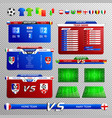 soccer broadcast elements transparent set vector image