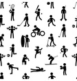 sport silhouettes black simple icons seamless vector image vector image