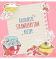 Strawberry jam poster vector image vector image