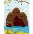 summer island landscape vector image vector image