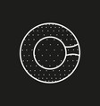 symbol of a zorbing ball icon on black background vector image vector image