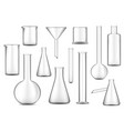 test tubes flasks and beakers checimal lab glass vector image vector image