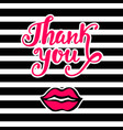 thank you bright card in retro pop art style vector image vector image