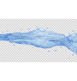 Transparent water jet vector image vector image