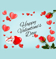 valentine day holiday getting card with red rose vector image vector image