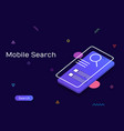 visual search search engine mobile search vector image