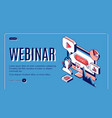 webinar conference video online seminar banner vector image