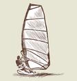 Windsurfing sketch vector image vector image