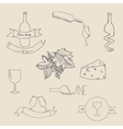 Wine icon label vector image vector image