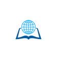 world book logo icon design vector image