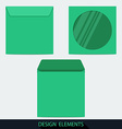 Green stationery blank compact disc envelope with vector image