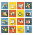 Atm And Hands Isometric Icon Set vector image
