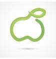 Green watercolor apple vector image