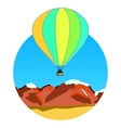 air balloon on ridges vector image