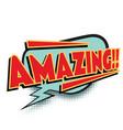 amazing comic word vector image vector image