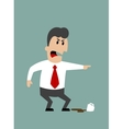 Angry boss or businessman yelling and pointing vector image vector image