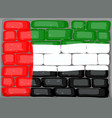 arab emirates flag on the wall vector image vector image
