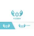 atom and people logo combination molecule vector image vector image