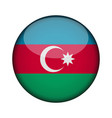 azerbaijan flag in glossy round button of icon vector image