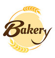 bakery malt circle frame background image vector image vector image