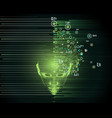 big data concept abstract artificial intelligence