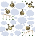 Cartoon birds seamless pattern vector image vector image