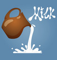 cartoon milk jug vector image
