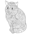 Cat Coloring book for adults vector image vector image