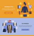 clothes banner set vector image vector image