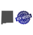 collage of halftone dotted map of new mexico state vector image vector image