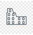 colosseum concept linear icon isolated on vector image vector image