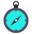compass with circle dial and arrow on white vector image