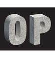 Concrete 3D letters vector image vector image