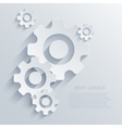 creative mechanism icon background Eps 10 vector image vector image