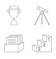 cup prize telescope catalog in a box and vector image vector image