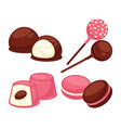 delicious sweet treats made of marshmallow and vector image vector image