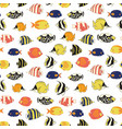 exotic reef fish seamless pattern tile vector image vector image