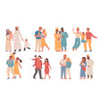 families different nationalities parents and vector image