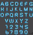 font alphabet set vector image vector image