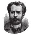frdric auguste bartholdi vintage vector image vector image