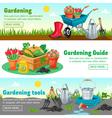 Gardening Horizontal Banners vector image vector image