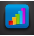 Growth stock symbol icon on blue vector image vector image