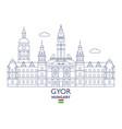gyor city skyline vector image vector image