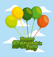 happy st patricks day card lettering with balloons vector image vector image