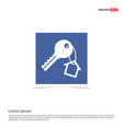 house key icon - blue photo frame vector image vector image