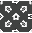 House with lock pattern vector image vector image